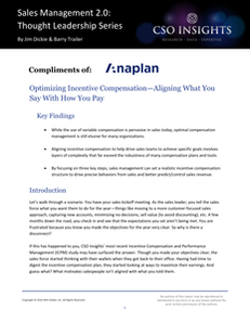Optimizing incentive compensation–aligning what you say with how you pay