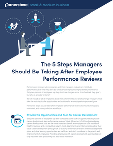 The 5 Steps Managers Should Be Taking After Employee Performance Reviews