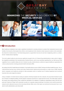 Minimizing the Security Risks Created by Medical Devices
