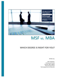 MSF vs. MBA – Which Degree Is Right for You?