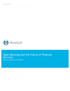 Open Banking (PSD2) and the Future of Financial Services