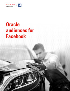 Oracle Audiences for Facebook