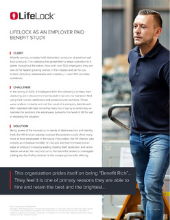 Lifelock as an Employer Paid Benefit Study