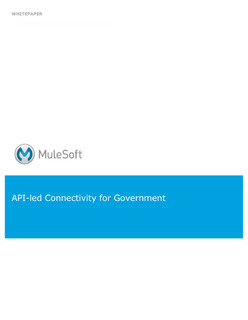 API-led Connectivity for Government