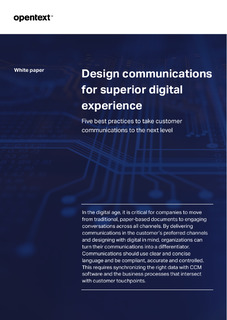 Design communications for superior digital experience.