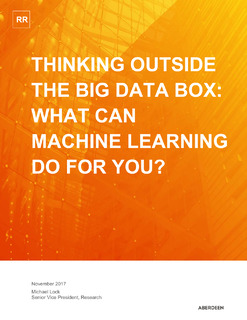 Thinking Outside The Big Data Box: What Can Machine Learning Do For You?