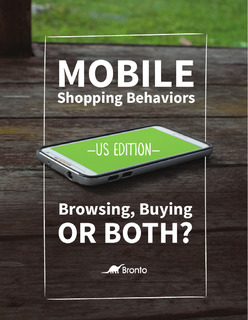Mobile Shopping Behaviors: Browsing, Buying or Both?