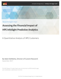Accessing the Financial Impact of HPE InfoSight Predictive Analytics