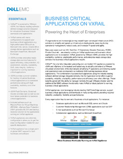 Business Critical Applications on VXRail