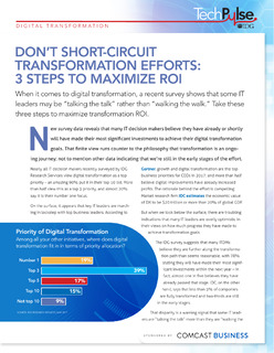 Don't Short-Circuit Transformation Efforts: 3 Steps to Maximize ROI