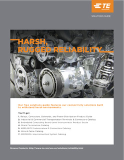 Harsh, Rugged Reliability: Relays, Contactors, Solenoids, and Power Distribution Product Guide