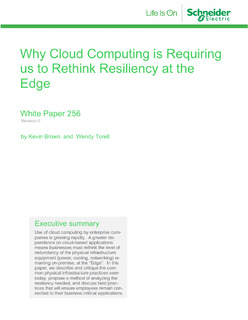 Why Cloud Computing is Requiring us to Rethink Resiliency at the Edge