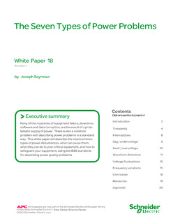 The Seven Types of Power Problems