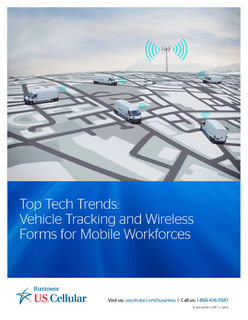 Top Tech Trends: Vehicle Tracking and Wireless Forms for Mobile Workforces
