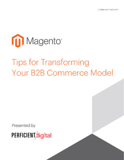 Tips for Transforming Your B2B Commerce Model