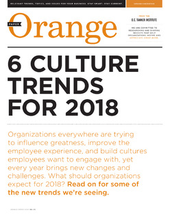 6 Culture Trends for 2018