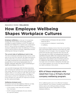 How Employee Wellbeing Shapes Workplace Cultures