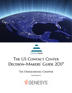 ContactBabel: The US Contact Center Decision-Makers' Guide: The Omnichannel Chapter