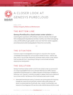Nucleus Research: Genesys PureCloud Makes Omnichannel Accessible