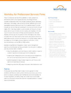 Workday for Professional Services Firms Datasheet