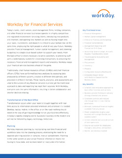 Workday for Financial Services Datasheet