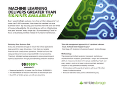 Machine Learning Delivers Greater Than Six-Nines Availability