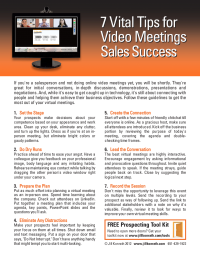 7 Vital Tips for Video Meetings Sales Success