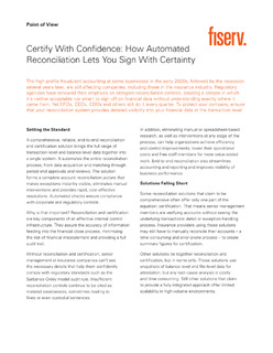 Certify with Confidence: How Automated Reconciliation Lets You Sign With Certainty