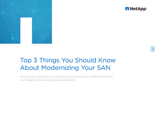 Top 3 Things You should Know about Modernizing your SAN eBook