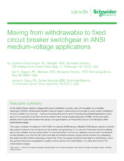 From withdrawable to fixed circuit breaker switchgear in ANSI medium voltage applications