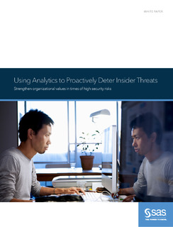Using Analytics to Proactively Detect Insider Threat