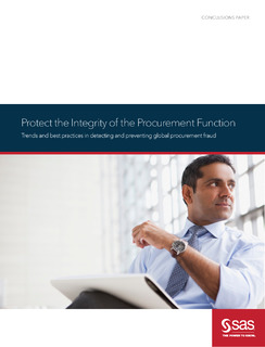 Protect the Integrity of the Procurement Function White Paper