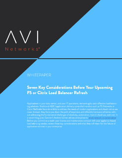 7 Key Considerations Before Your Upcoming F5 or Citrix Load Balancer Refresh