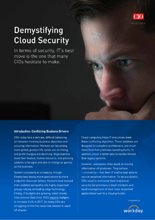 Demystifying Cloud Security