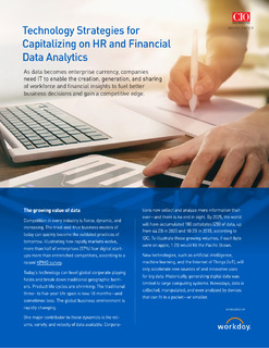 Technology Strategies for Capitalizing on HR and Financial Data Analytics