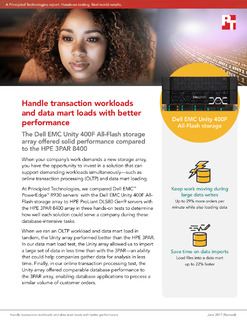 Handle Transaction Workloads and Data Mart Loads with Better Performance
