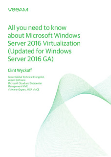All you need to know about Microsoft Windows Server 2016 Virtualization