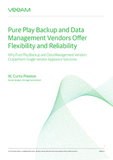 Pure Play Backup and Data Management Vendors Offer Flexibility and Reliability
