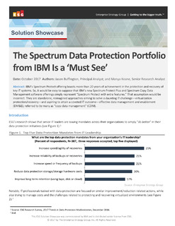 Why Spectrum Protect Portfolio is a must see