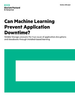 Nimble Labs Report: Can machine learning prevent application downtime?