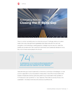 Automating NetOps: Closing the IT Skills Gap
