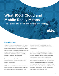 What 100% Cloud and Mobile Really Means