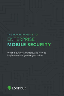 The Practitioners Guide to Enterprise Mobile Security