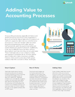 Adding Value to Accounting Processes