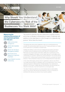 Cybersecurity – What risk do you inherit from the businesses you work with?