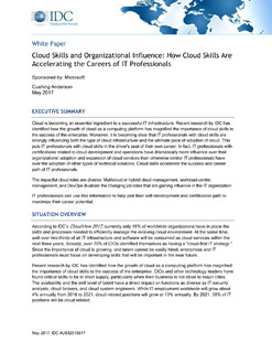 Cloud Skills and Organizational Influence