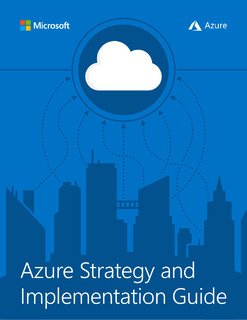 Azure Strategy and Implementation Guide for IT Organizations