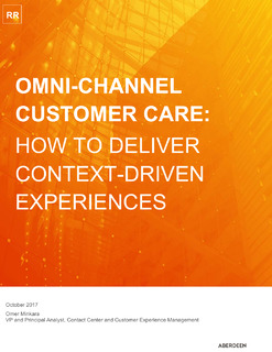 Aberdeen Report: How To Deliver Context-Driven Experiences