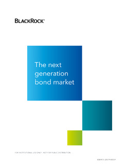 The Next Generation Bond Market