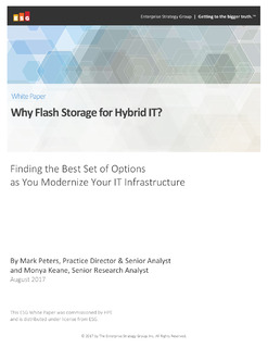 Why Flash Storage for Hybrid IT?